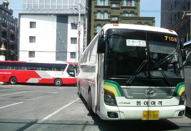 鎮海行きのバス(2017年4月撮影)